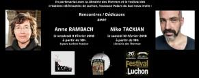 Rencontres avec Anne Rambach et Niko Tackian dans le cadre du Festival des créations télévisuelles de Luchon