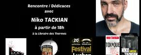Niko Tackian à Luchon, le samedi 10 février à 18h, à la Librairie des Thermes